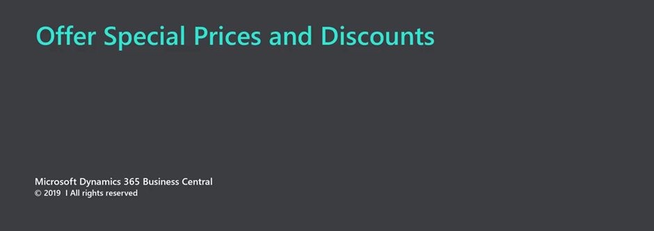 Setting up special prices and discounts in Microsoft Business Central 2