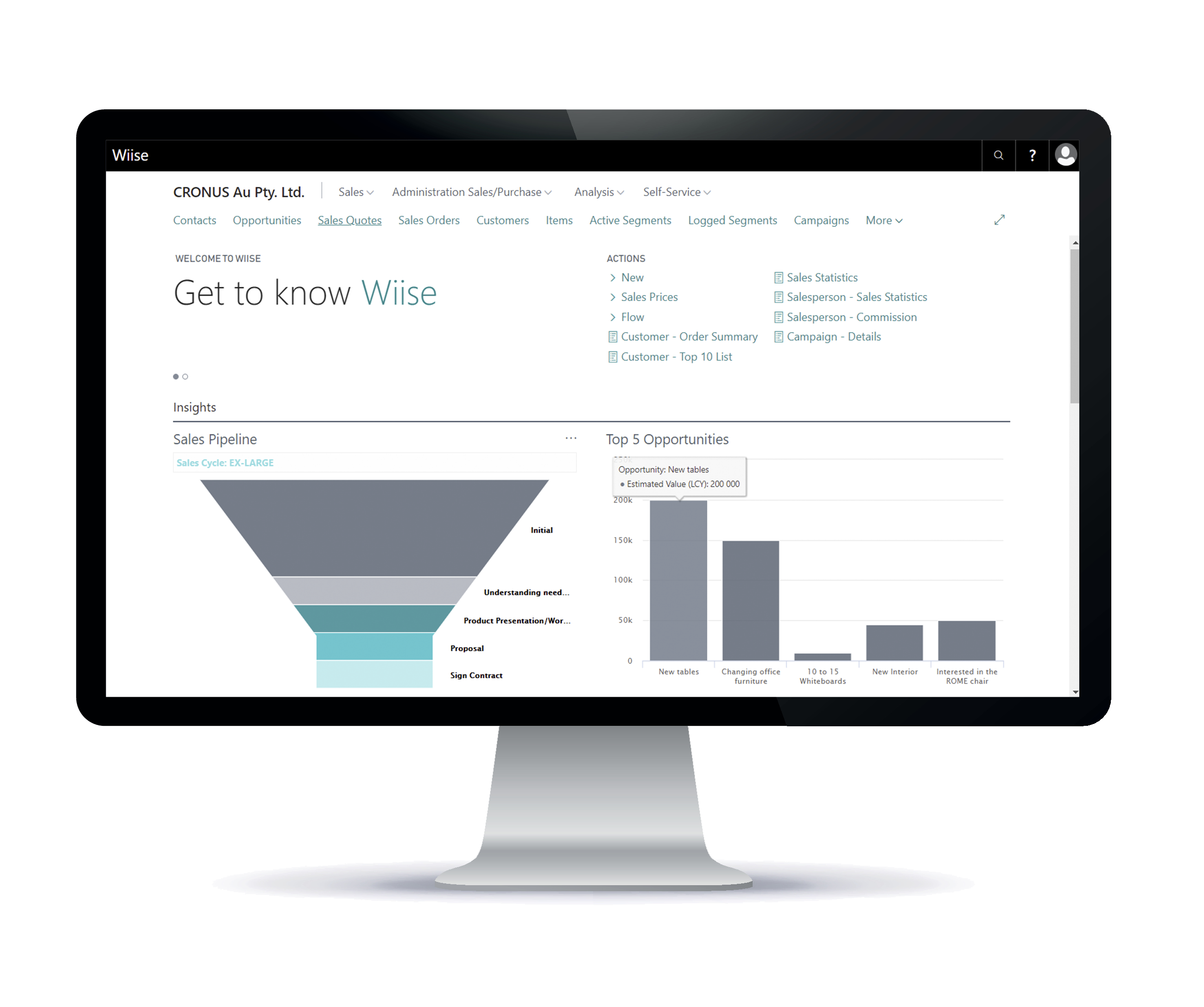 Your customers and campaign in one place - wiise for not-for-profit