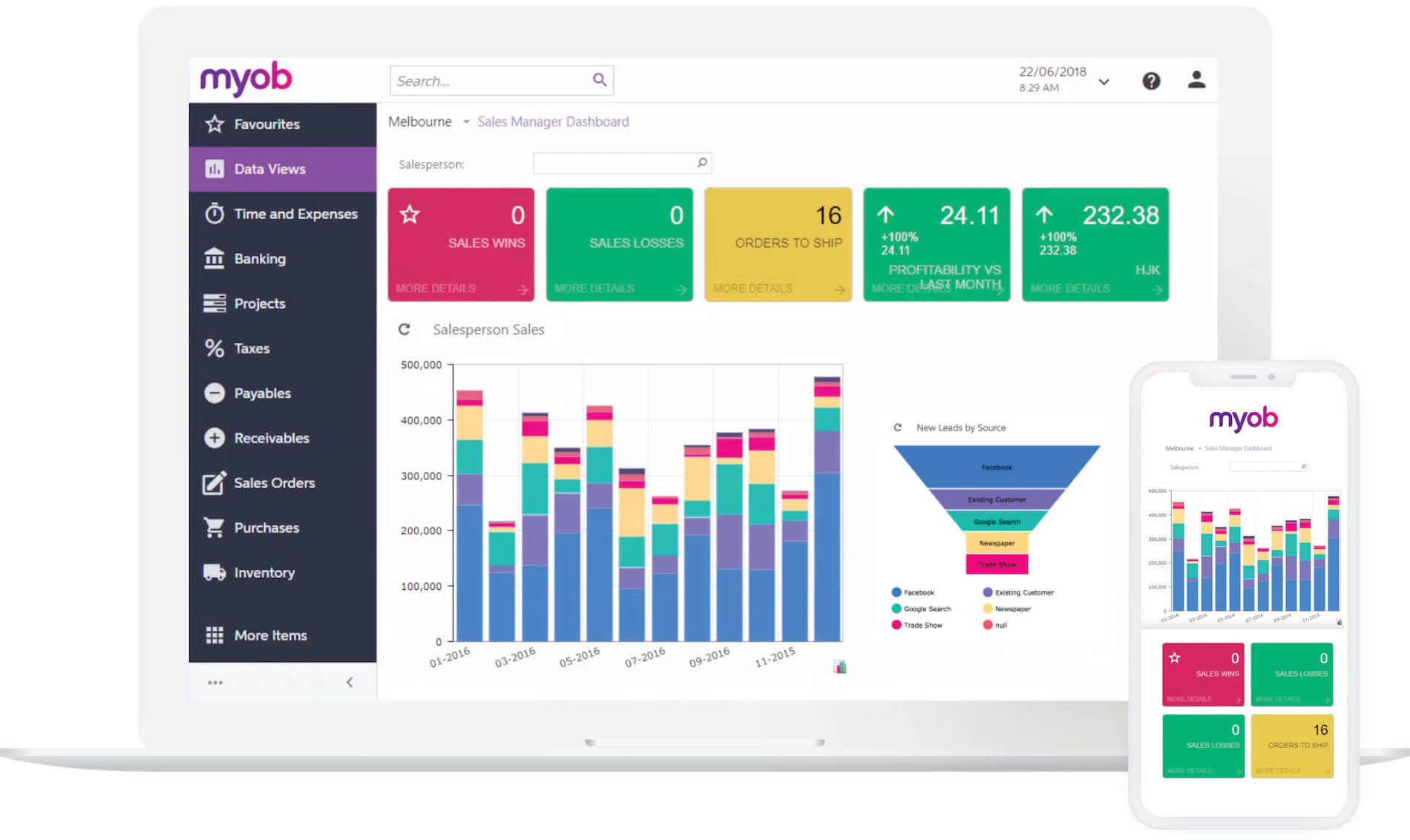 MYOB Advanced Dashboard